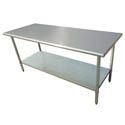"""Sauber Stainless Steel Work Table 72""""L x 30""""W x 36""""H"""