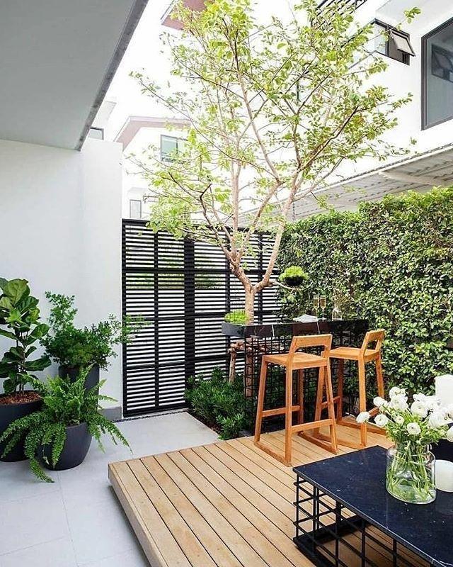 Dekorumahyuk On Instagram Good Morning Guys Have A Nice Day Pinter In 2020 Small Backyard Garden Design Backyard Garden Design Narrow Backyard Ideas