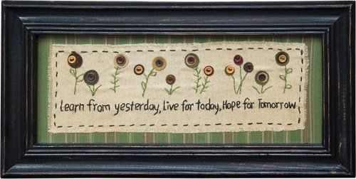 """Sampler """"Learn From Yesterday"""" Country Rustic Primitive P..."""