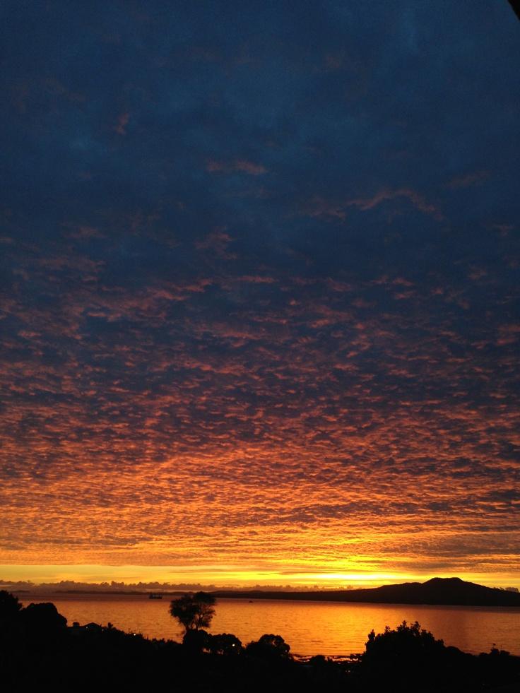 Amazing sunrise on my back door step