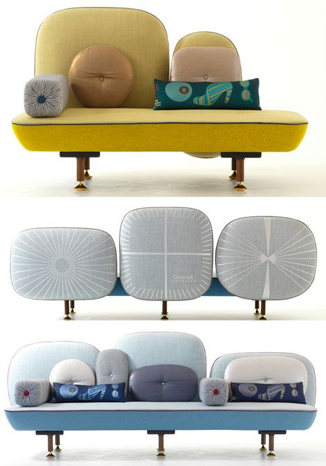 """doshi levien and their """"beautiful backside"""" collection of furniture for Moroso..."""