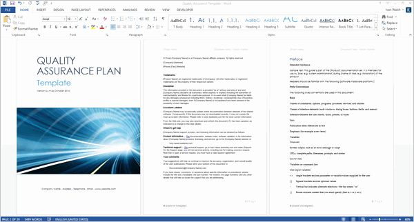 Qa Qc Plan Template Luxury Quality Assurance Plan Template Ms Word 7 Excel How To Plan Business Plan Template Free Templates