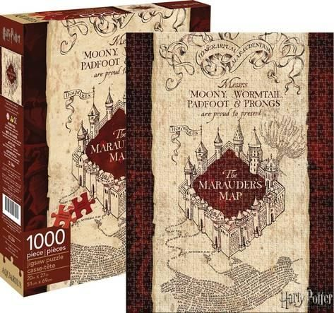 Harry Potter Marauder's Map 1,000 Piece Puzzle Jigsaw Puzzle - at AllPosters.com.au