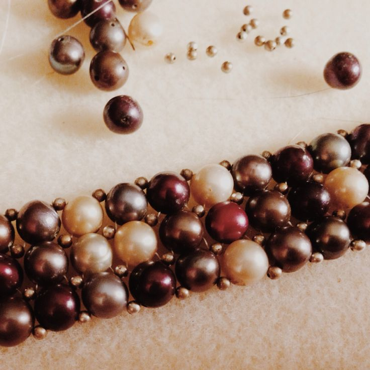 Double drilled pearls. Figuring out how to repair this for a client was an incredible puzzle. So rewarding!!!