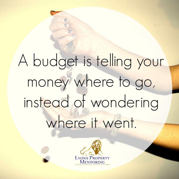 Budget, budget, BUDGET!