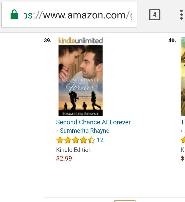 In top 100 paid books at Amazon in its category #SecondChanceAtForever #bestseller #romance  https://www.amazon.com/dp/B01IE40CTM
