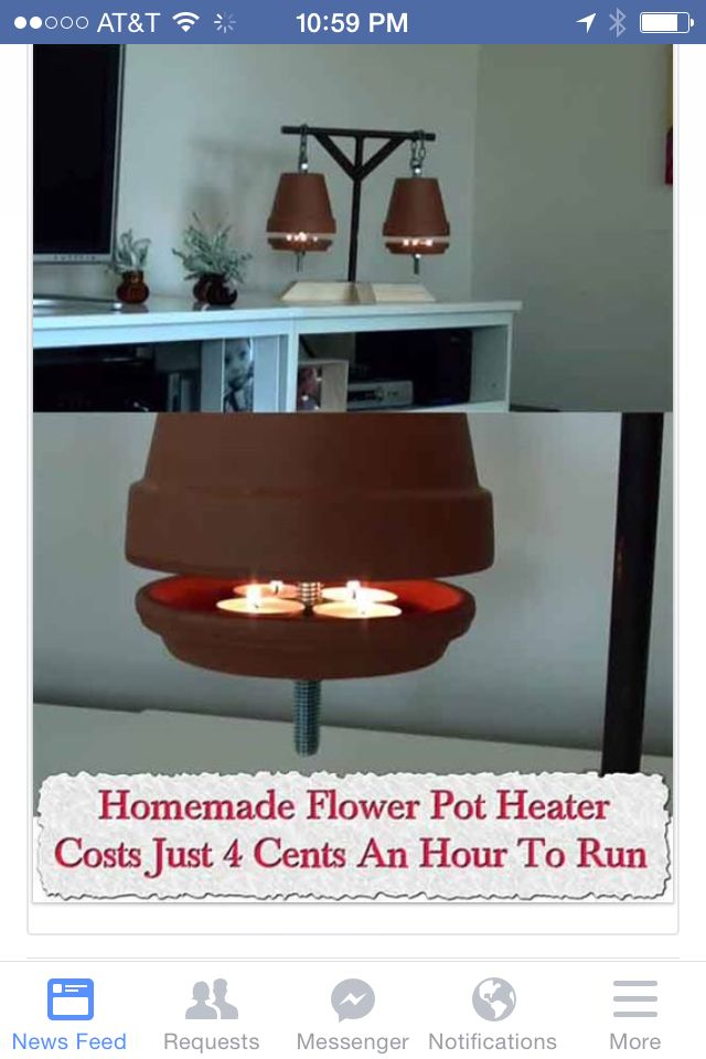 Flower pot room warmer
