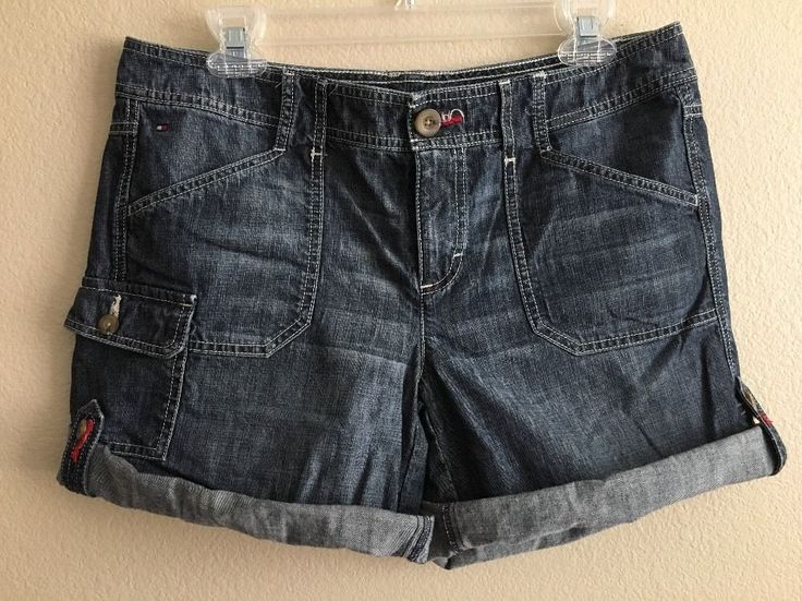 Tommy Hilfiger Ladies Denim Shorts Size 8 #TommyHilfiger #Cargo