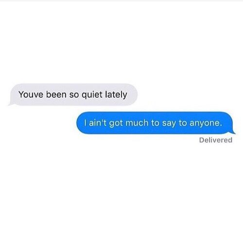 This is me so much when people say I'm quiet or stuck up or in a bad mood. I just don't have anything to say to anyone or don't have the time to waste unnecessary energy on those who could care less. ✌️