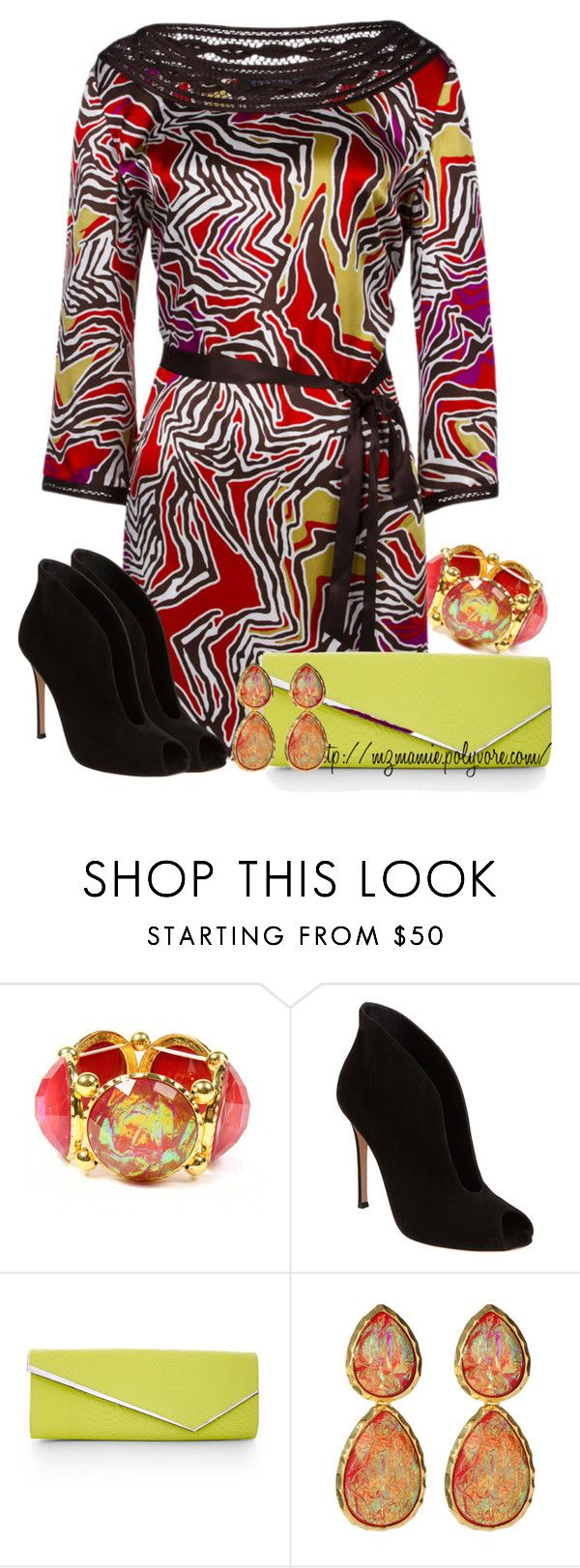 """Untitled #574"" by mzmamie ❤ liked on Polyvore featuring Amrita Singh, Gianvito Rossi and BCBGMAXAZRIA"