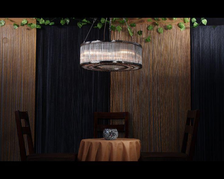 Glass Reed Large Pendant Light 1