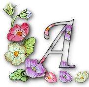 Delicado alfabeto de flores. | Oh my Alfabetos!