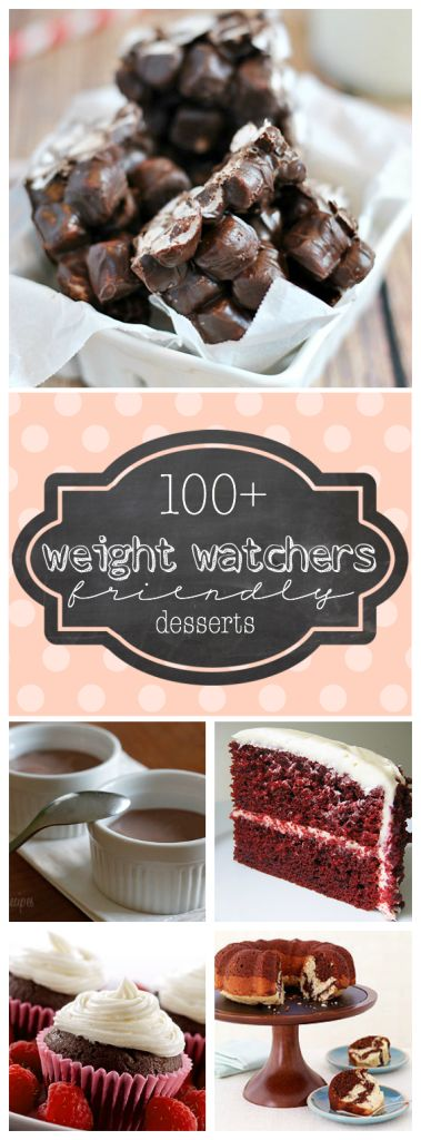 100+ Weight Watchers Friendly Desserts | www.somethingswanky.com