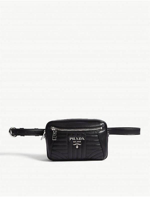 PRADA - Small quilted leather belt bag  663dba757df63