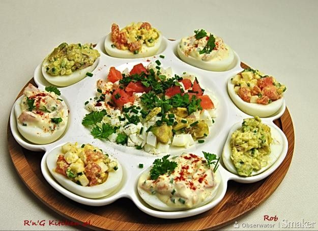 Menu Wędrowca Starego  i nie tylko.: Jajka faszerowane mazzarellą