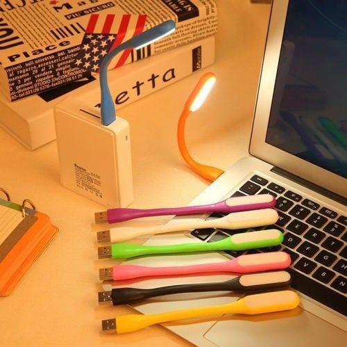 LUCE LED USB FLESSIBILE MINI LAMPADA LETTURA NOTEBOOK PC PORTATILE NOTTURNA