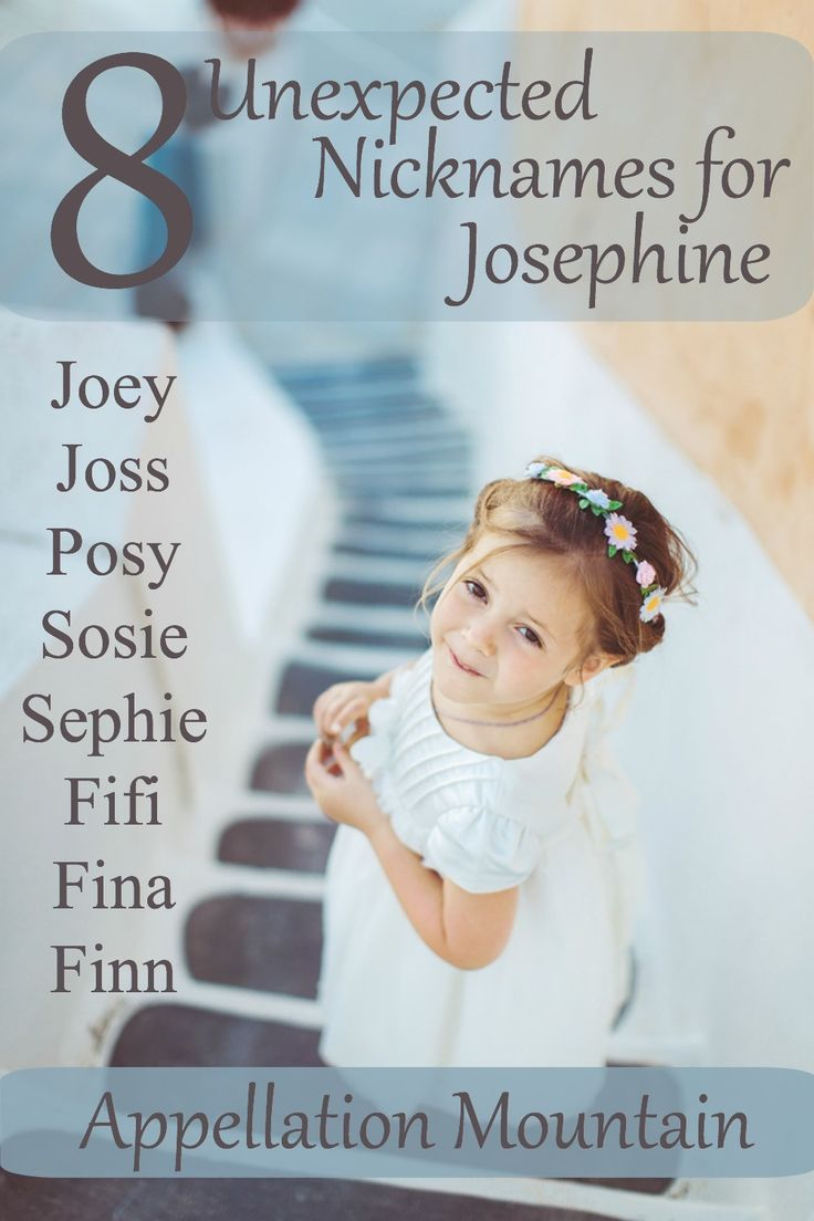 Love the classic girl name Josephine, but not so sure about the nickname Josie? Here are eight great alternative nicknames for Josephine. Posy and Sosie are my faves.