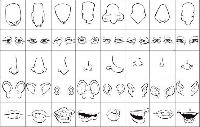 How to Draw Caricatures Noses | ... erent types of exaggerated head shapes, eyes, noses, ears, and mouths