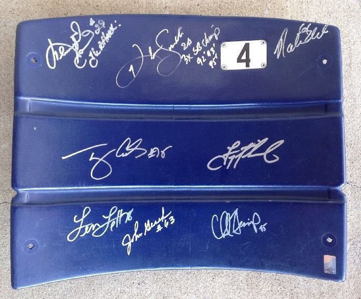 Super Bowl 27 Champs #Dallas Cowboys Texas Stadium Seatback #Autographed Signed X8 from $304.99
