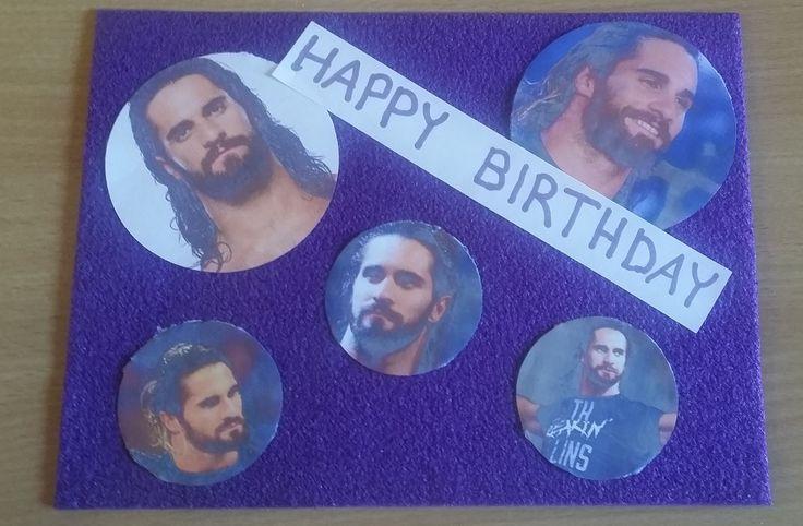 Birthday card for a Seth Rollins fan.