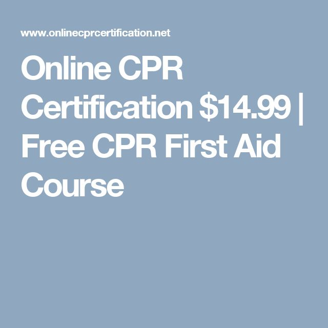 Online CPR Certification $14.99 | Free CPR First Aid Course ...
