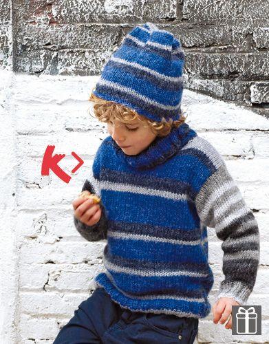 Designs for kids by Katia #winter #fall 2014 / 2015 #autumn ##multicolorstripes #knitting #katiayarns #freepattern