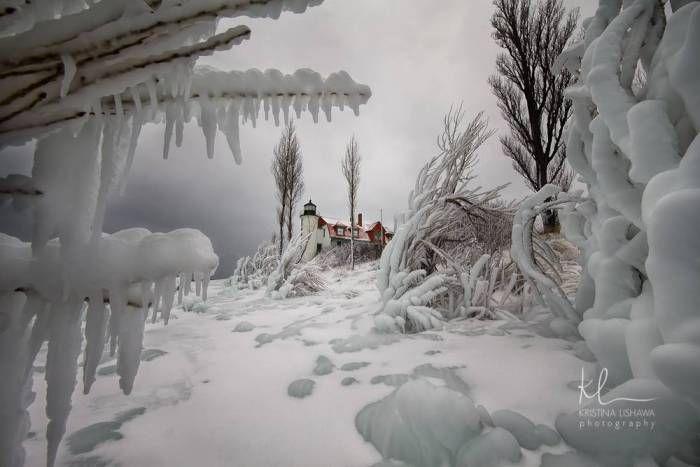 Point Betsie Lighthouse- Ice Station Zebra Edition