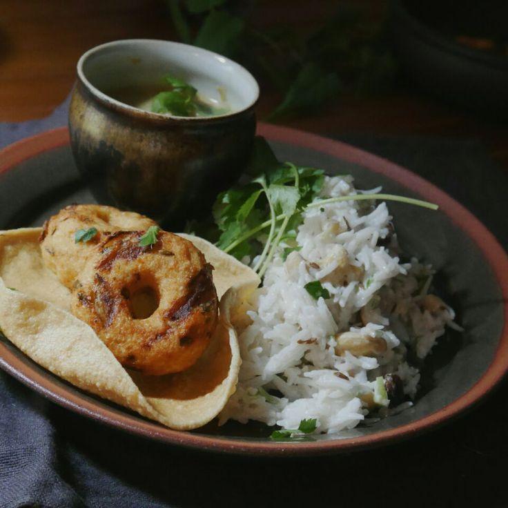 まちまちこ's dish photo ヨーグルトライスとか  ある日のインドプレート | http://snapdish.co #SnapDish #ベジタリアン #インド料理 #ネパール料理