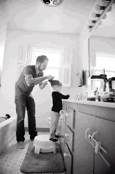 My husband is the most amazing father. I just love watching him do his little girls hair and play dress up with her and have tea parties. He is so sweet.