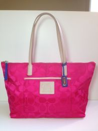 Available @ TrendTrunk.com Coach Legacy Weekend Zip Top Tote - Brand New with Tags, Hot Pink. By Coach. Only $107.00!