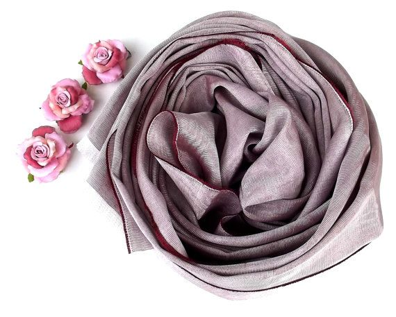 Silk Pink Scarf Traditional Hand Textiled by atohumcu, $24.00