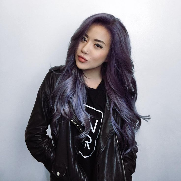 """Change is in the hair (again). New purple locks by the bestest in LA, @dearmiju """