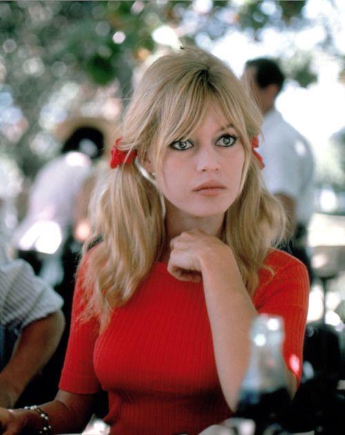 Brigitte Bardot    #60's #actress #pigtails