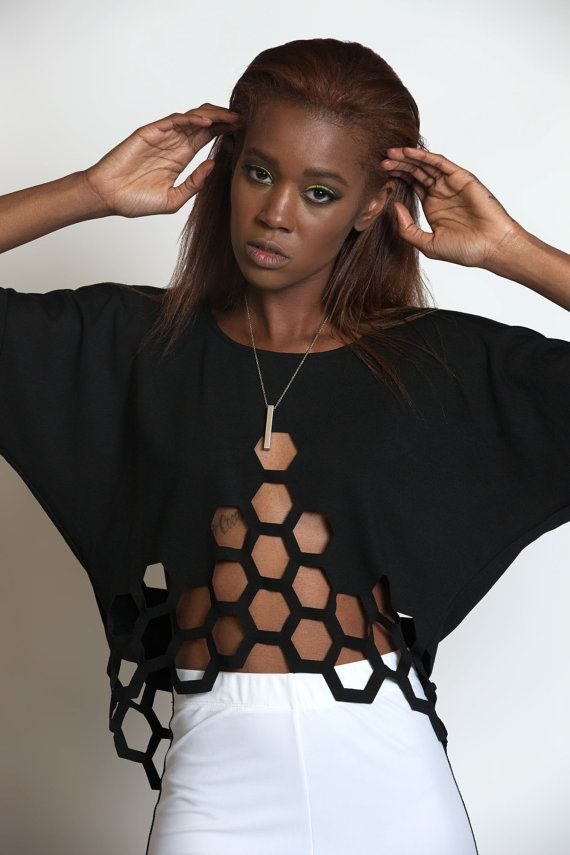 HIVE MIND Laser geschnittene Shirt Kimono von MichelleUberreste