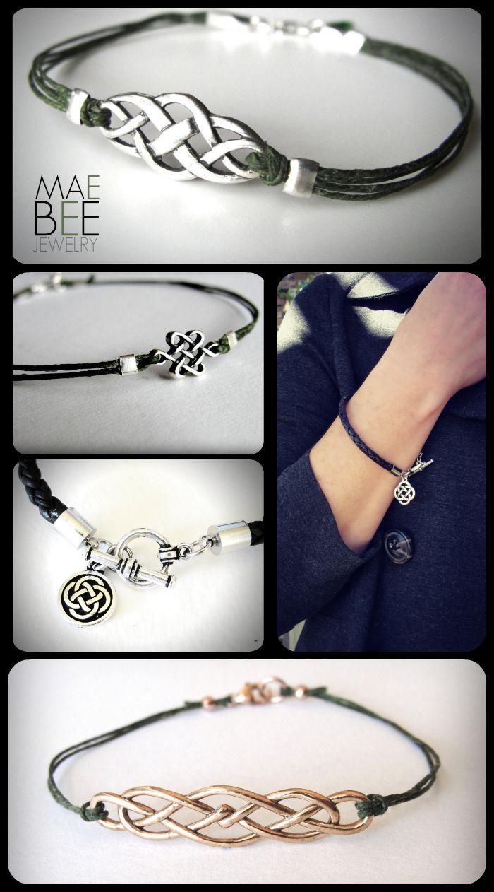 Outlander Irish Celtic bracelets from JewelryByMaeBee on #Etsy. www.jewelrybymaebee.etsy.com