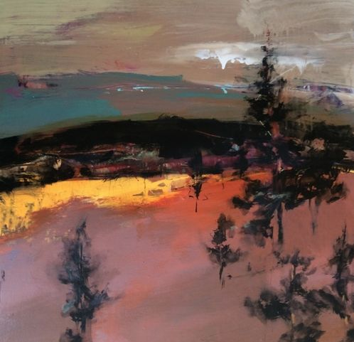 Rocky Mountain Contemporary Artists: Abstract Mixed Media Landscape Painting…