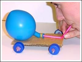 Image result for balloon powered car