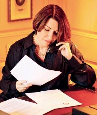 Amy Klobuchar in Elle Magazine, 2010. http://www.elle.com/culture/career-politics/a11015/the-audacity-of-minnesota-senator-amy-klobuchar-439048/