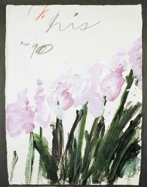 Cy Twombly, Nicola's Iris, 1990