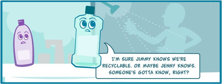 Comic Strip: The Recycling Adventures Of Sophie Shampoo And Mason Mouthwash