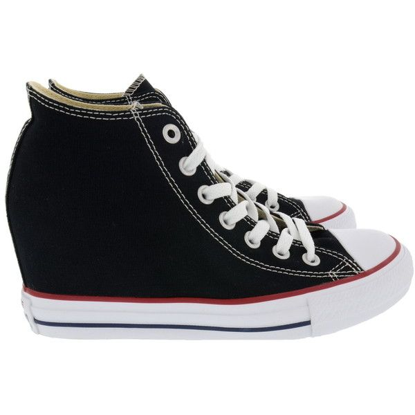 SNEAKERS MID LUX CANVAS Converse Scarpe Donna BRUNAROSSO.COM (€110) ❤ liked on Polyvore featuring shoes, sneakers, converse sneakers, converse footwear, canvas sneakers, converse shoes and converse trainers