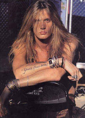 Sebastian Bach-needs to get the hair out of his face, but he has a really good, recognizable voice