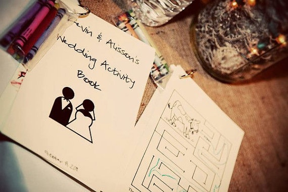 Custom Personalized Children's Wedding Activity Books by AliHCreations, $3.75