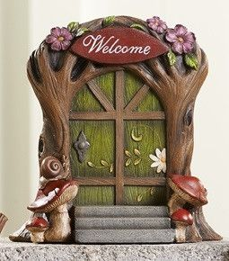 Welcome Resin Fairy Door  Price $22.99