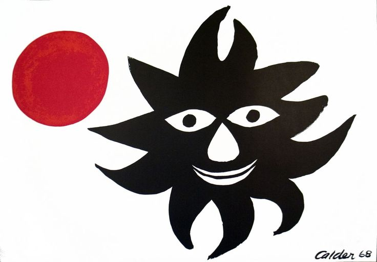 Artist: Alexander Calder. Medium: Lithograph. Title: Sun and Moon. Year: 1968. Condition: B-: Good Condition, Signs of Handling and Age. | eBay!