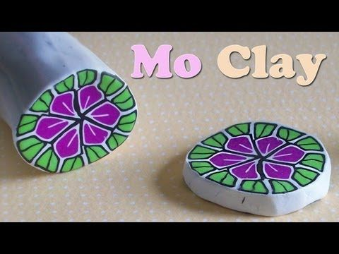 ▶ DIY Polymer Clay flower cane - kaleidoscope technique - YouTube