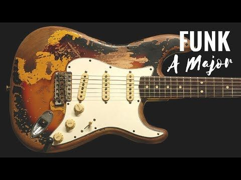 619) Funky Groove | Guitar Backing Track Jam in A - YouTube