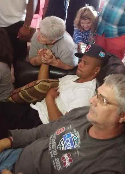 Dak Prescott with family and friends watching the 2016 NFL Draft.