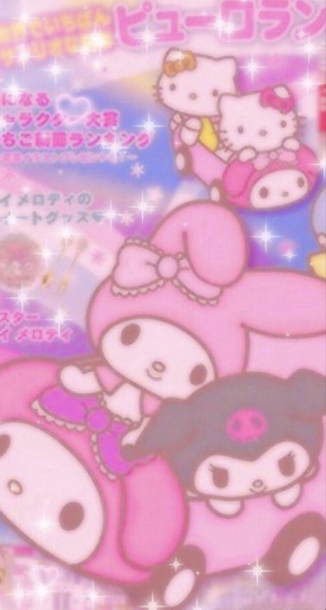 Hello Kitty Aesthetic Background : hello, kitty, aesthetic, background, Melody, Kuromi!, Aesthetic, Phone, Background, Hello, Kitty, Iphone, Wallpaper,, Sanrio, Wallpaper