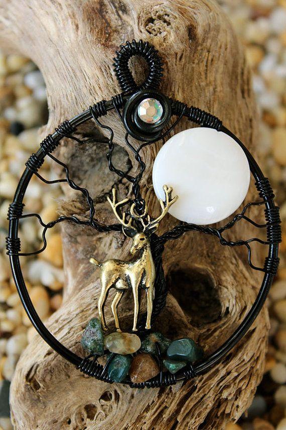 Tree of Life - Deer and Moon